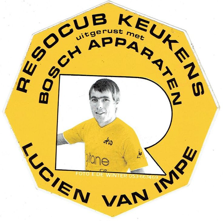 Lucien van Impe - Resocub keukens. Sticker.