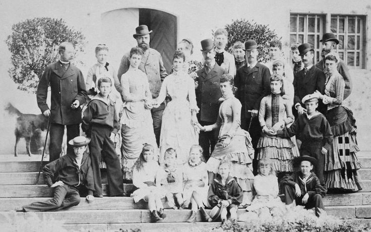 "English, Russian and Danish royalty at Fredensborg,Denmark in 1883. ""AL"""