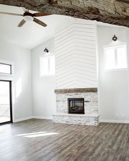 New Farmhouse Brick Fireplace Benjamin Moore 65 Ideas