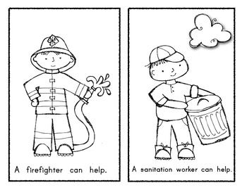 (sample page) Community Helper Emergent Reader Book: WHO CAN HELP? $