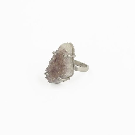 Muchi Galoosh Fairy Quartz Ring – Lilac & Silver from Rustic Ring Radiance
