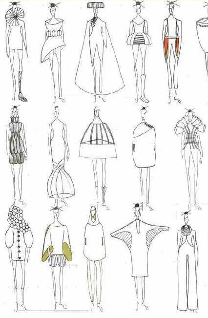 Fashion Sketchbook - fashion design sketches; fashion illustrations; fashion portfolio // Laura Woolley