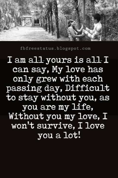I Am All Yours Quotes