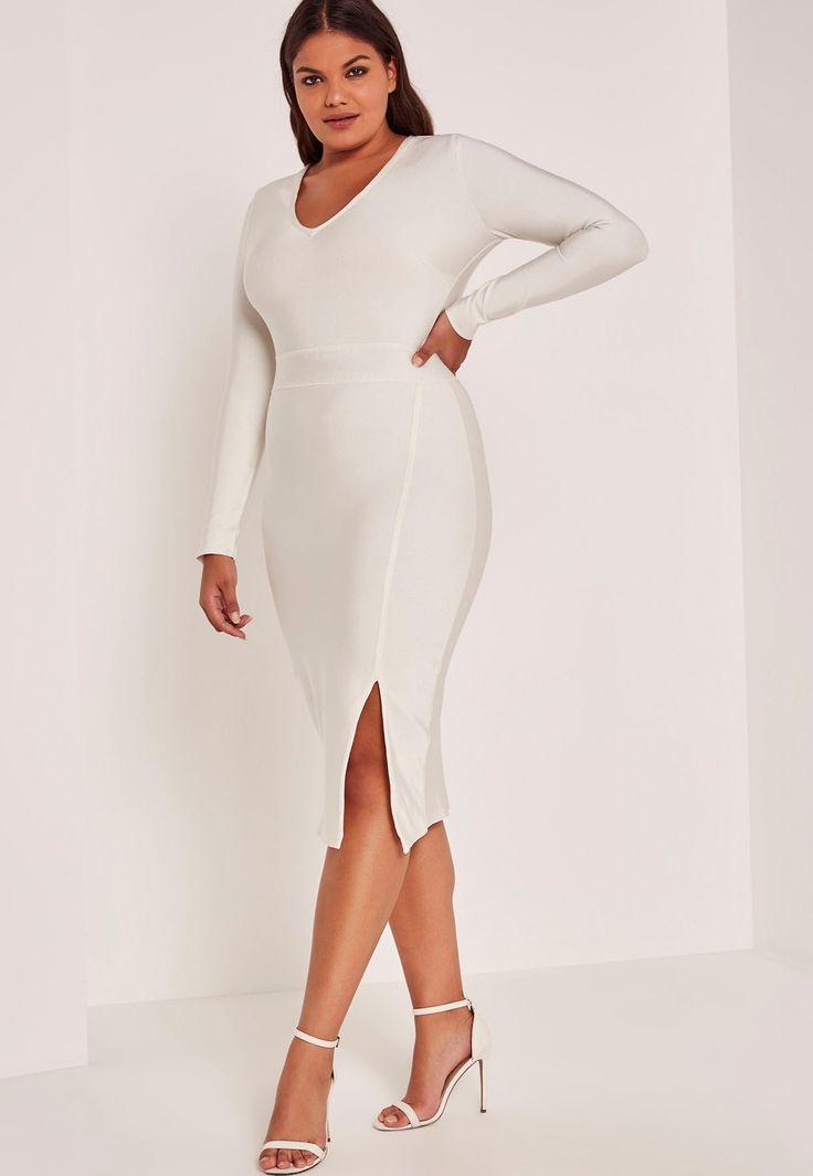 Jill dresses white plus bodycon long size