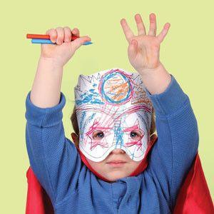 Superheroes Make a Mask.