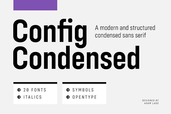 Config Condensed Font Family Condensed Font Sans Serif Font Family