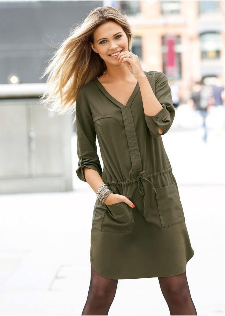 Платье Модное платье-рубашка с лентой • 799.0 грн • bonprix