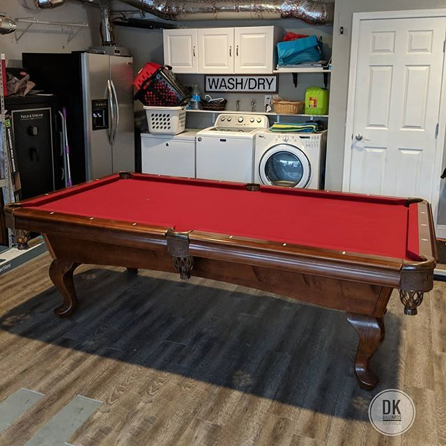 Finished Installing This 8 Foot American Heritage Pool Table In