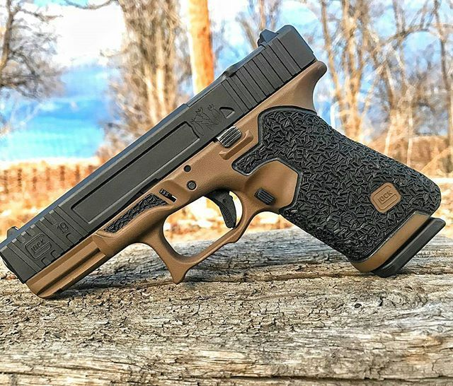 From @dangerclosearmament Glock 19 all finished up with our a prototype slide.