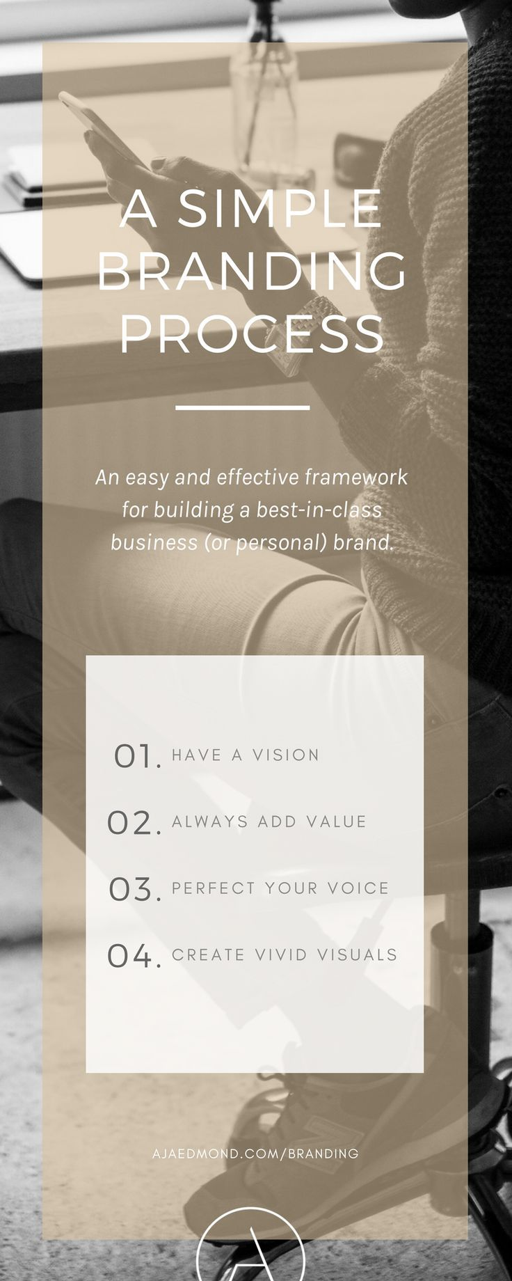 a simple branding framework   free e-course and resources @ ajaedmond.com/branding   brand strategy template   brand yourself   brand your business   personal branding   small business branding   small business owners   creative entrepreneurs   brand strategy framework   how to brand yourself   how to brand your business