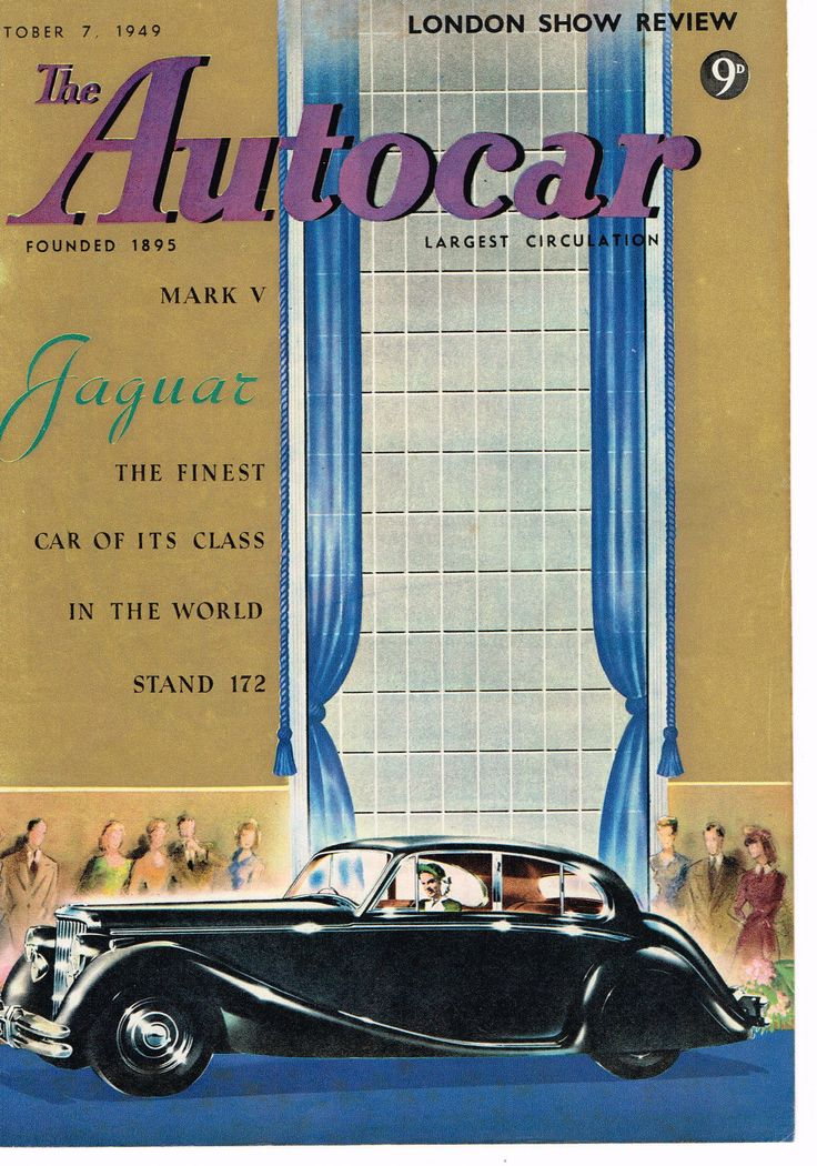 Jaguar MK5 Original Magazine Cover 1949 Colour | eBay
