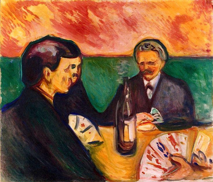 Card Players in Elgersburg Edvard Munch - 1905