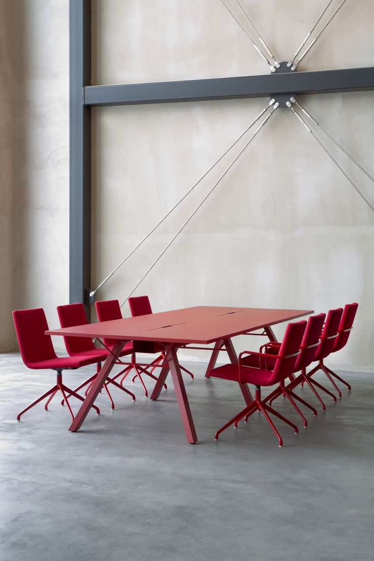 Lab table and Basso chairs (design Harri Korhonen)