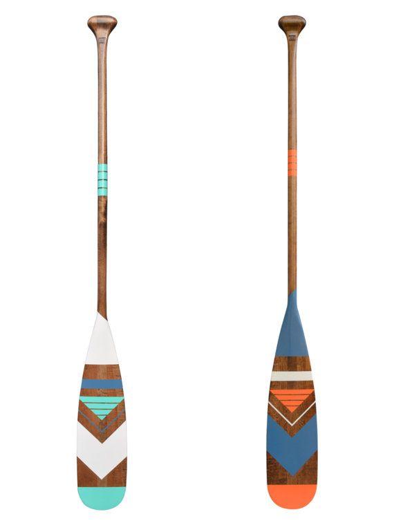 Painted oar navajo design nautical inspiration cabin