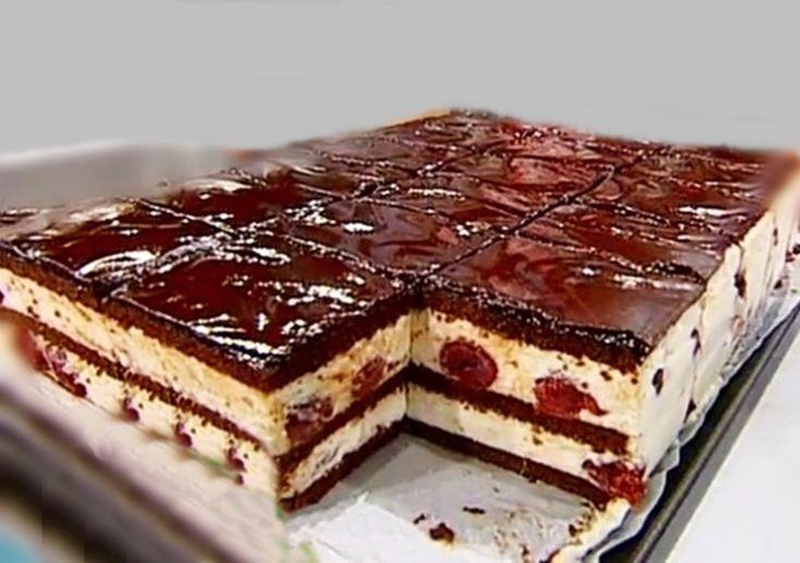 Таким десертом можно покорить любого привереду! Изумительное пирожное с шоколадом, вишней и взбитыми сливками! – Apetitno.tv