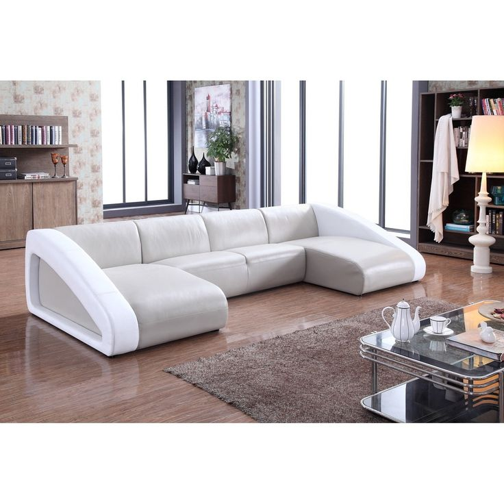 Diamond Modern White Leather U Shaped Sectional Sofa W: Best 25+ White Leather Sectionals Ideas On Pinterest