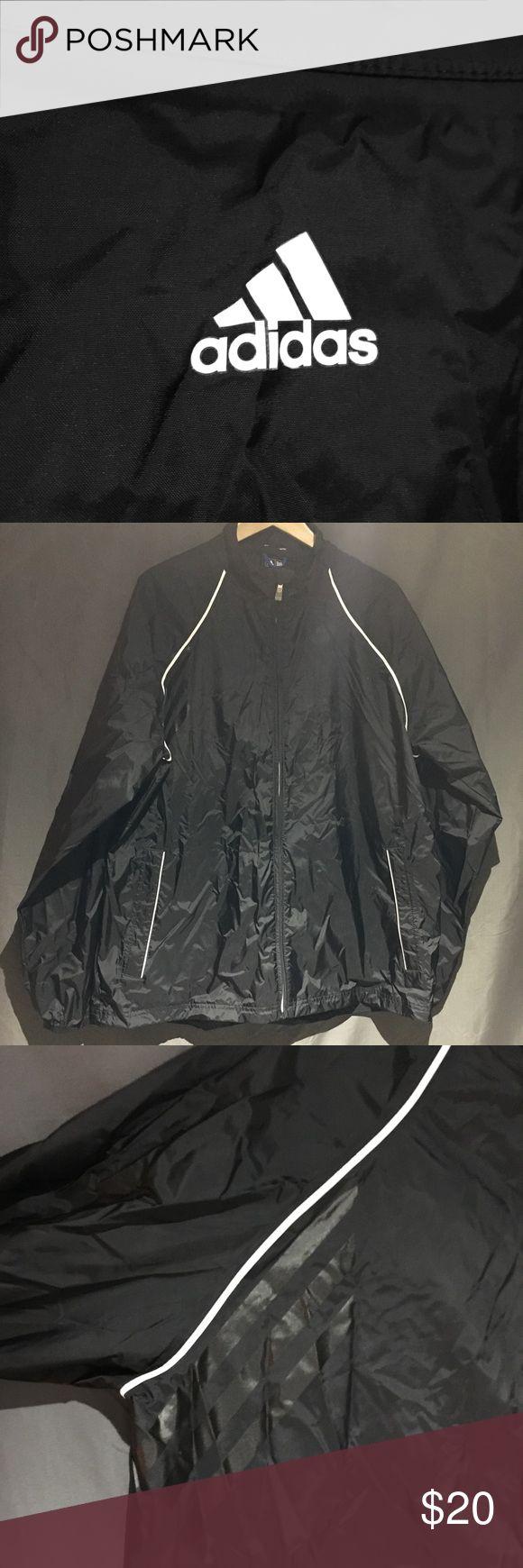Adidas ClimaProof Rain Jacket Reflective accents on this packable rain jacket. Zippered Pockets, cinch waist, elastic wrist. LIKE NEW adidas Jackets & Coats Raincoats