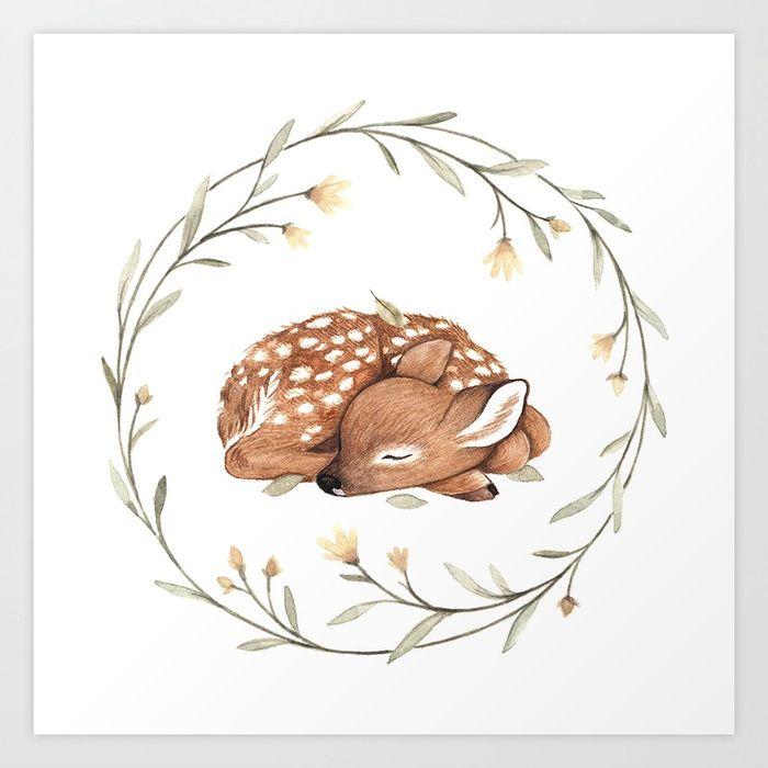 Kaufen Sie Wildflower Fawn Kunstdruck von ninastajner. Weltweiter Versand bei Society6.com. Nur eines von Millionen von qualitativ hochwertigen Produkten.