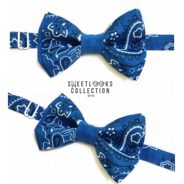 Blue Bandana Bow Ties and Hair Bows