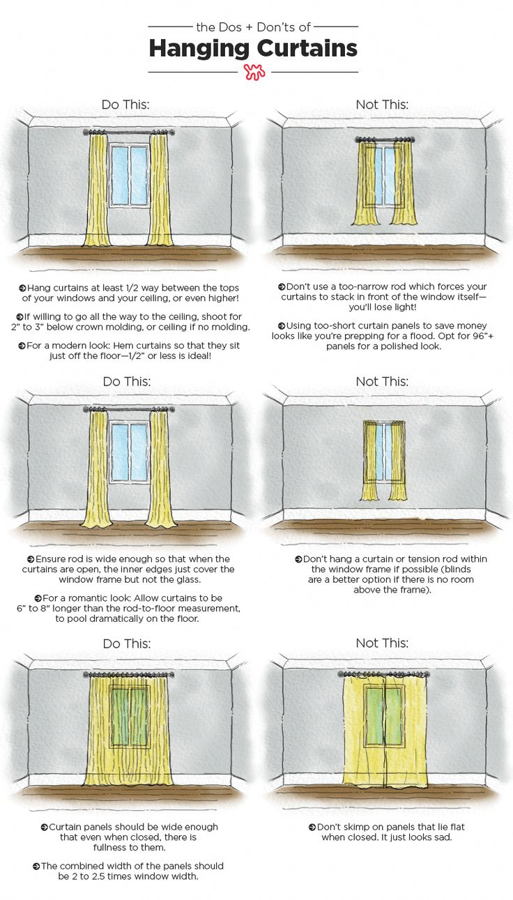 The Dos & Don'ts of Hanging Curtains: An Illustrated Guide — Be Your Own Designer #livingroomdecor