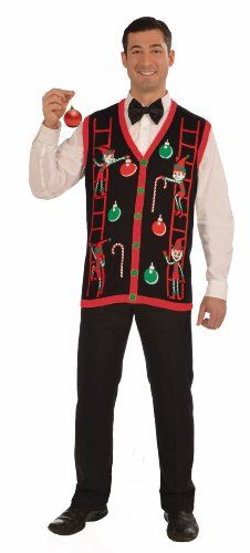 Funny Christmas Sweater–Ugly Christmas Sweater Christmas Costume Choose Your Style (Medium, Decorating Vest)
