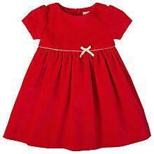 Buy John Lewis Baby Velvet Bow Dress Red Online At