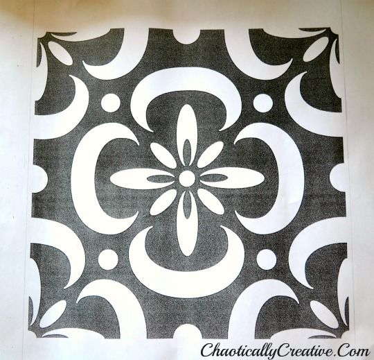 Stenciled Porch Floor - Chaotically Creative