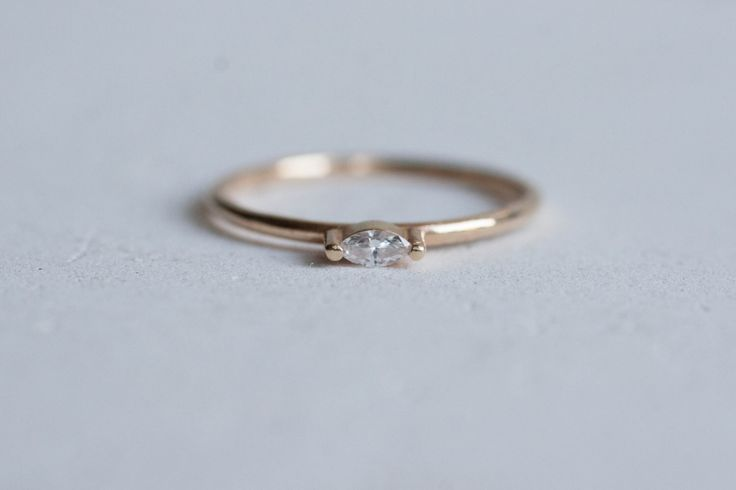 Petite Diamond Marquise Ring Solid 14k Recycled Gold   Diamond Marquise Ring 14k Gold   Navette Diamond Ring 14k Gold by MineralogyDesign on Etsy https://www.etsy.com/listing/257401036/petite-diamond-marquise-ring-solid-14k