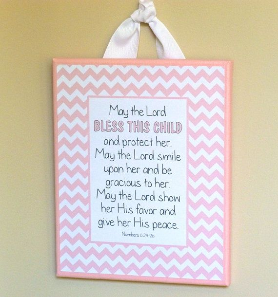 Baby blessing nursery decor baptism by abidingwordcreations, $23.00