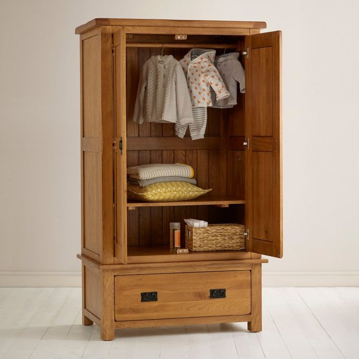 Original Rustic Solid Oak Wardrobe