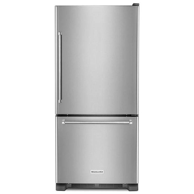 KitchenAid - KRBR109ESS - KRBR109ESS 19 cu. ft. Bottom Mount Refrigerator - Stainless Steel | Sears Outlet