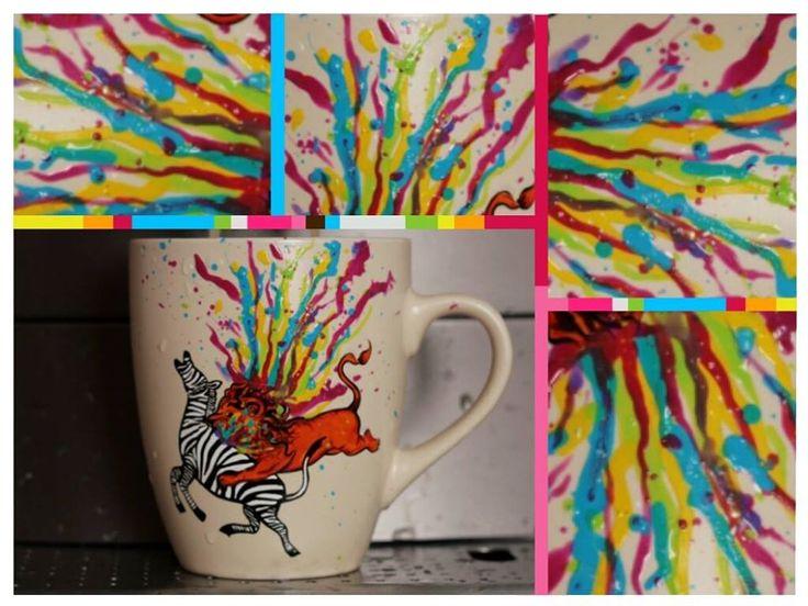 "Cana pictata ""Killing boredom"" #colorful #rainbow #painting #handmade"