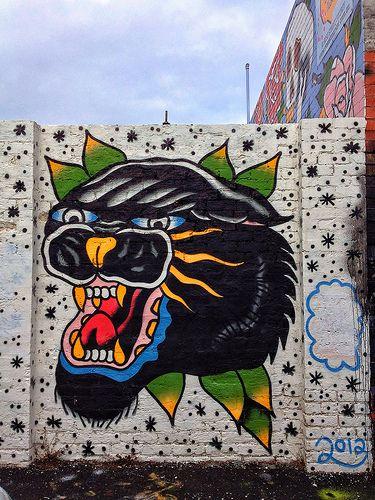 STEEN JONES - Rose Street, Fitzroy, Melbourne. Street art.