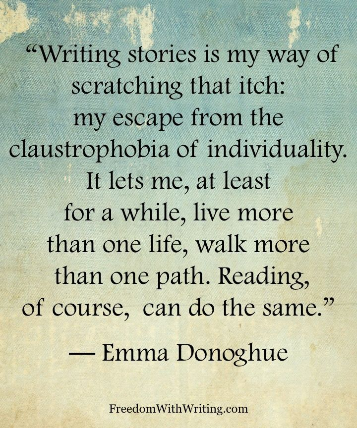 But writing of course is much much better than reading. It allows you to escape the struggles of everyday life and enjoy another one that you can control completely. What happens is totally your choice, no exceptions.