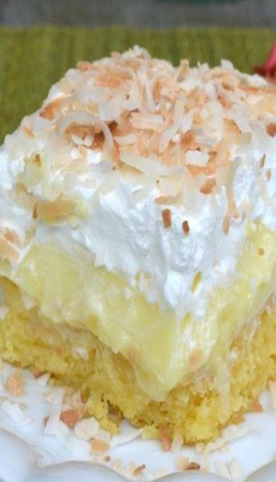 Pineapple Coconut Poke Cake