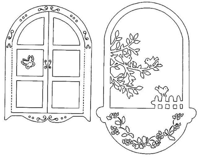 Картинки украшение на окно домика из бумаги ставни