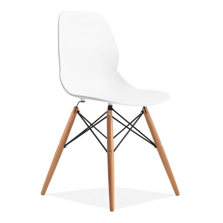 Eames Inspired Chaise Eiffel Contemporaine - Blanche