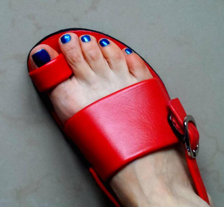 Sandalias hechas a mano.
