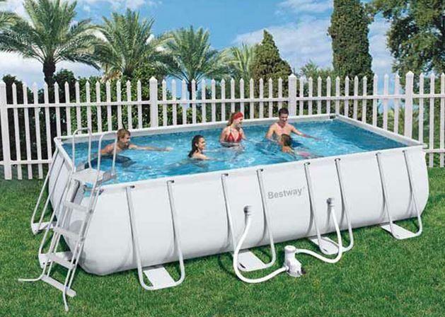Piscine Tubulaire Rectangulaire Power Steel Frame Pool 549 x 274 x 122 cm au meilleur prix ! - LeKingStore