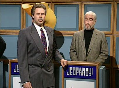 Sean Connery (SNL's Darrell Hammond) to Alex Trebek (Will Ferrell): That's not