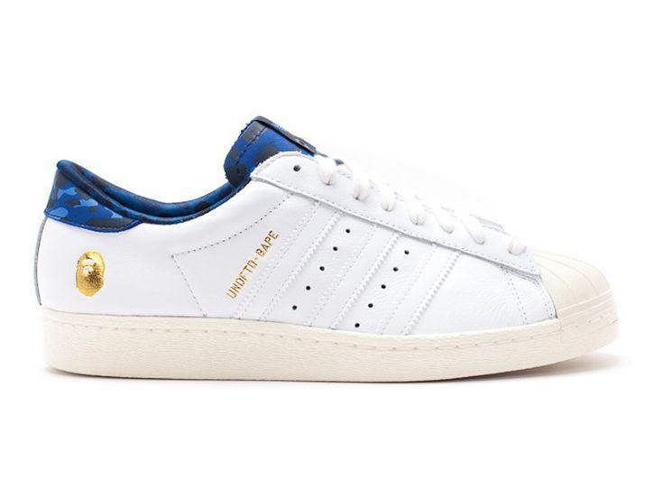 """Adidas Superstar 80v GS - undftdxbap """"undftd x bape"""" - Chaussure de Adidas Pas Cher Pour Femme/Enfant ftwwht/blanc b34292GS"""