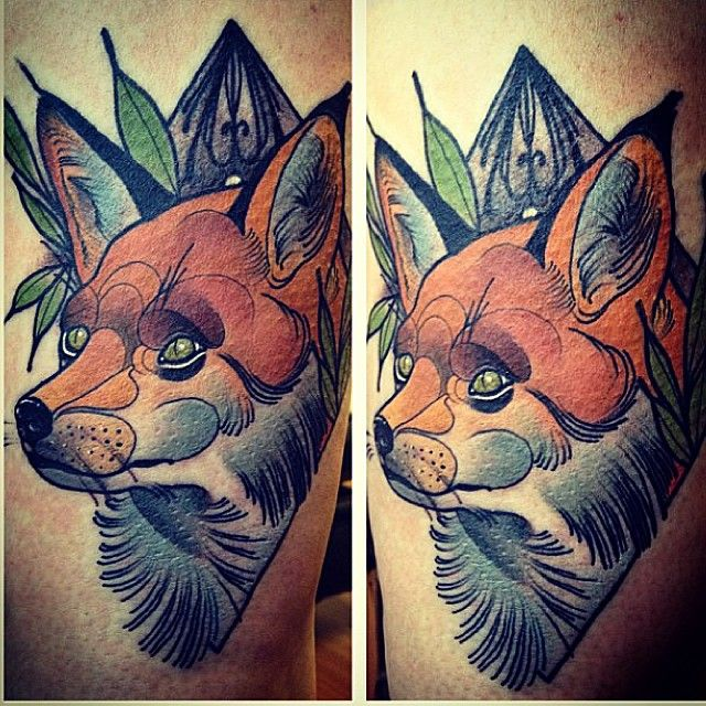 #illustration fox #neotraditionel #neotraditional #neo #traditionel #traditional #draw #drawing #tattoo #ink #tattooed #inked #sketch #sketches #men #man #flowers #animals #roses