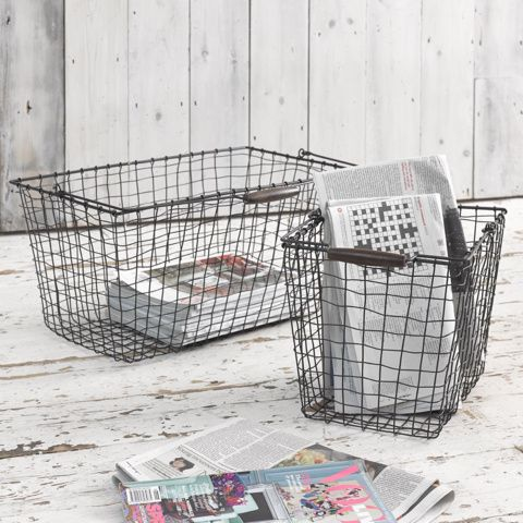 GRILLE. Imagine you're wistfully floating through a French market. Basket in hand. Jauntily perusing local produce. Maybe having a little flirt along the way. And now back to reality. Blighty. Storage baskets. Don't panic, the dream is still alive.