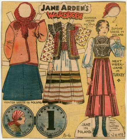 78.2337: Jane Arden's Wardrobe-Jane in Poland   paper doll   Paper Dolls   Dolls   National Museum of Play Online Collections   The Strong