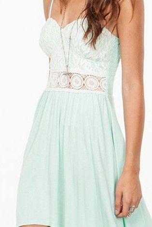 Minty Laced Dress