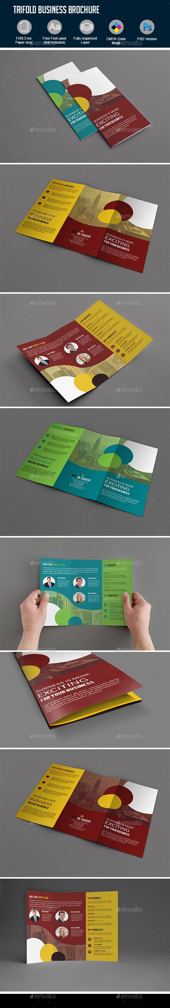 Trifold Letter Size Corporate Brochure Template