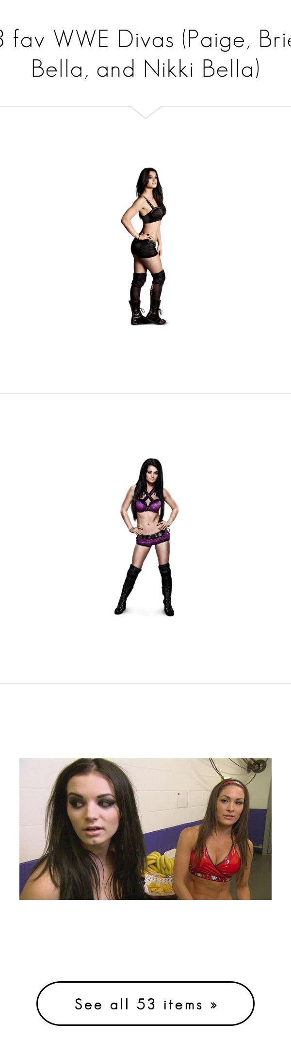 3 fav WWE Divas (Paige, Brie Bella, and Nikki Bella) by lost-moon.   Get well soon, Nikki!