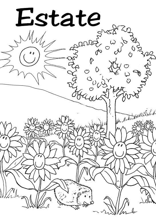 abbastanza Oltre 25 fantastiche idee su Disegni da colorare estate su  YR49