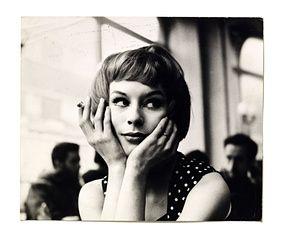 Portrait of an unknown girl in a cafe, 1960's. John Deakin's Soho photography