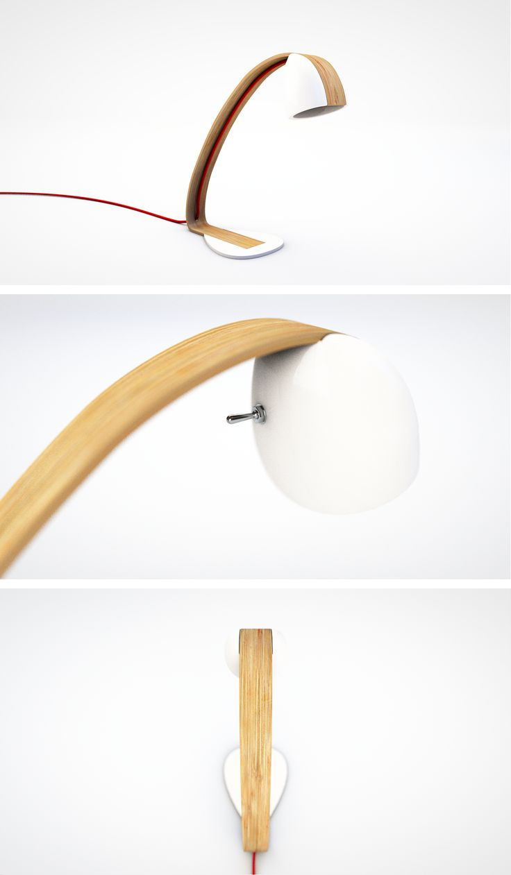 Beautiful desk lamp by AvM Design, going to be produced by Gold Crest.